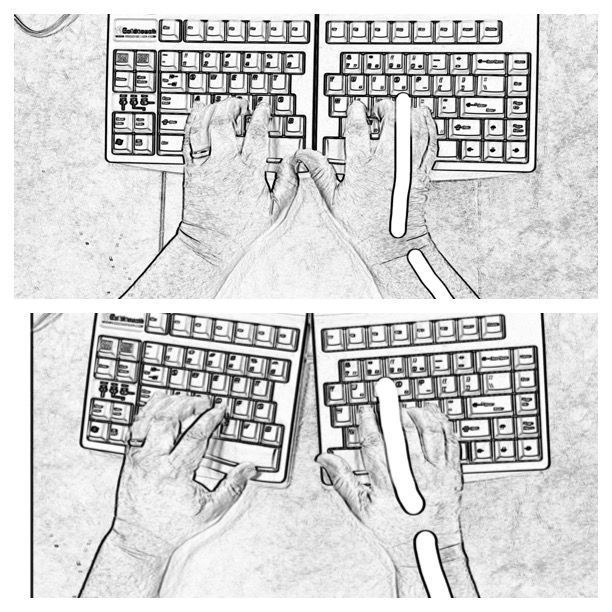 ergo keyboard sktetch